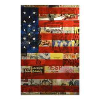 Usa Flag United States American Flag America Stationery