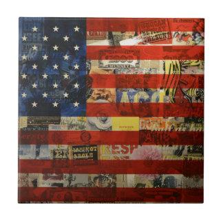 Usa Flag United States American Flag America Tile