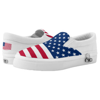 USA Flag United States of America Slip-On Shoes
