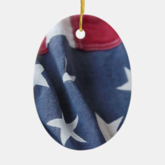 USA flag vertical oval ornament