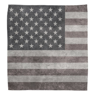 USA flag, vintage retro style with canvas textue Bandannas