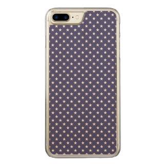 USA Flag White Stars on Flag Blue Carved iPhone 8 Plus/7 Plus Case