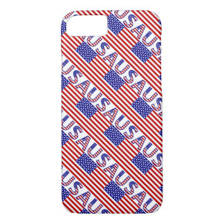 USA Flag with Letters iPhone 8/7 Case