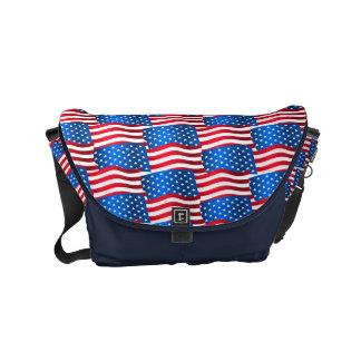 USA flags Courier Bag