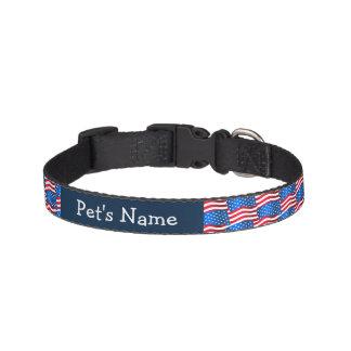USA flags Pet Collar