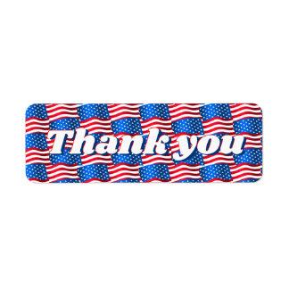 USA flags Return Address Label