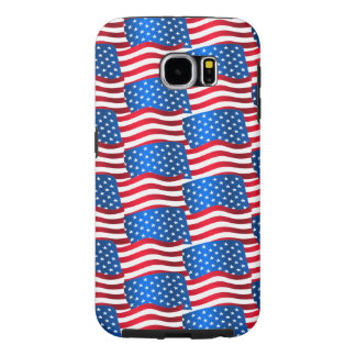USA flags Samsung Galaxy S6 Cases