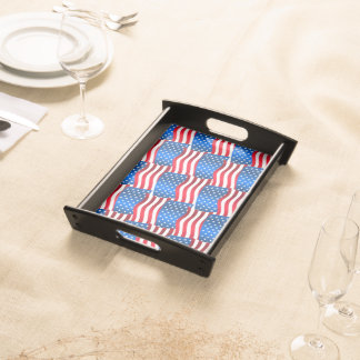 USA flags Serving Tray