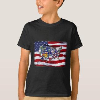 USA FLAGS T-Shirt