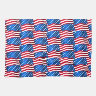 USA flags Tea Towel