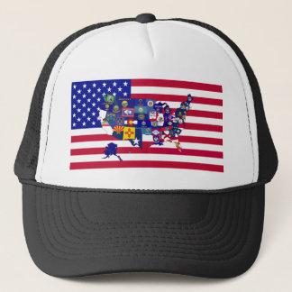 USA Flags Trucker Hat