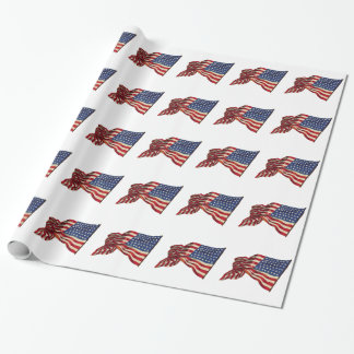 USA Flags Wrapping Paper