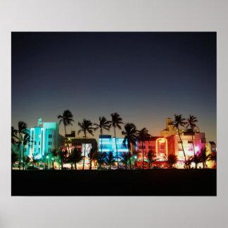 USA, Florida, Miami Beach, Ocean Drive, Art Deco Print