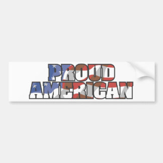 USA-Flowing Proud American Bumper Sticker