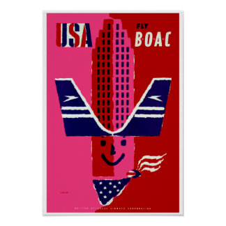 USA ~ Fly BOAC Posters