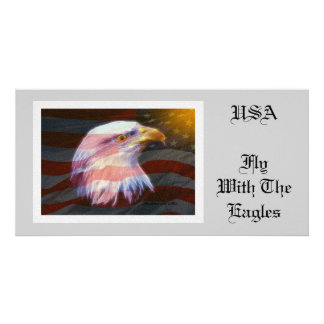 USA  / Fly With The Eagles Customised Photo Card