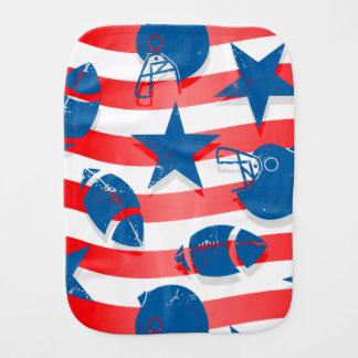 USA football Burp Cloth