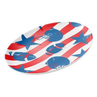 USA football Porcelain Serving Platter