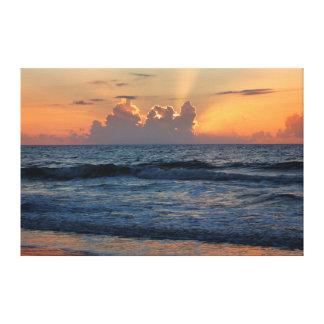 USA Georgia Tybee Island Tybee Island Beach Gallery Wrapped Canvas