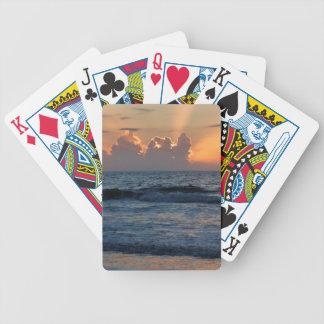 USA, Georgia, Tybee Island, Tybee Island Beach Card Decks