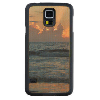 USA, Georgia, Tybee Island, Tybee Island Beach Carved® Maple Galaxy S5 Slim Case