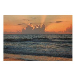 USA Georgia Tybee Island Tybee Island Beach Wood Print