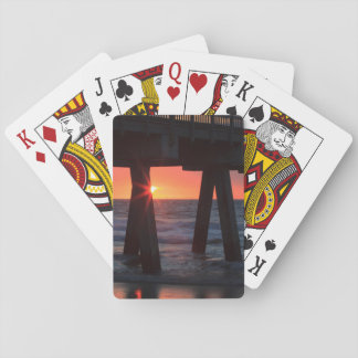 USA, Georgia, Tybee Island, Tybee Pier Deck Of Cards