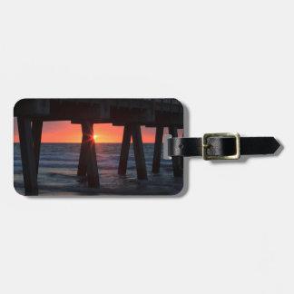 USA, Georgia, Tybee Island, Tybee Pier Travel Bag Tags
