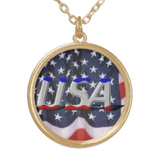 USA Gold Finish Necklace