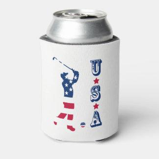 USA golf America flag golfer Can Cooler
