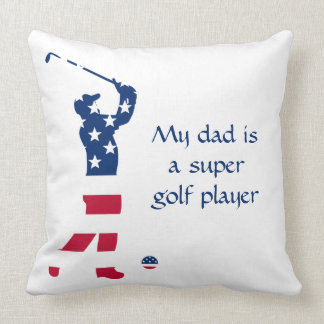 USA golf America flag golfer Cushion