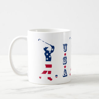 USA golf American flag golfer Coffee Mug
