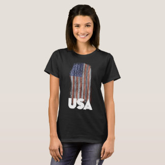 USA Grunge Flag W T-Shirt