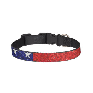 Usa Grunge Heart Shape Flag Pet Collar