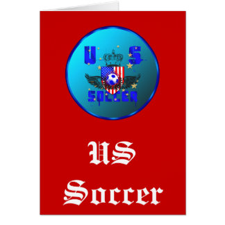 USA grunge soccer gifts and goodies Greeting Card