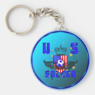USA grunge soccer gifts and goodies Key Chain