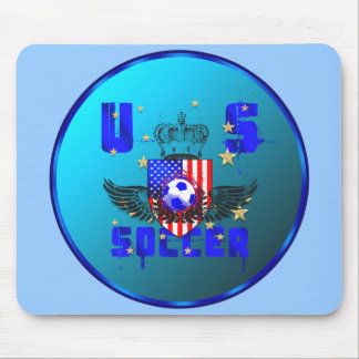 USA grunge soccer gifts and goodies Mouse Pad