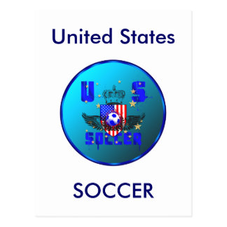 USA grunge soccer gifts and goodies Postcard