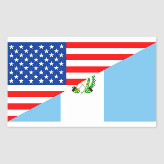 usa guatemala country half flag america symbol rectangular sticker