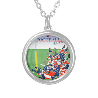 USA hail mary pass, tony fernandes Silver Plated Necklace
