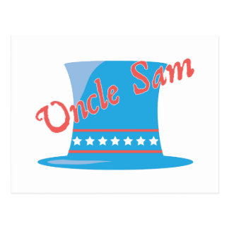 USA Hat Uncle Sam Postcard