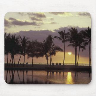 USA, Hawaii, Big Island, Couple, palm trees Mouse Pad