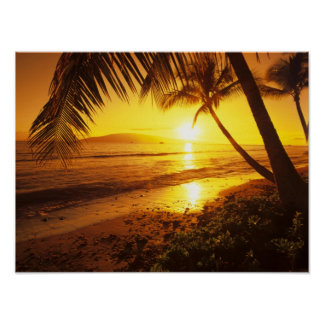 USA, Hawaii, Maui, Colorful sunset in a 2 Poster