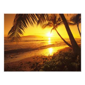 USA, Hawaii, Maui, Colorful sunset in a Photo