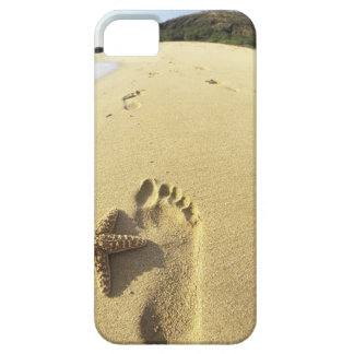 USA, Hawaii, Maui, Makena Beach, Footprint and iPhone 5 Covers