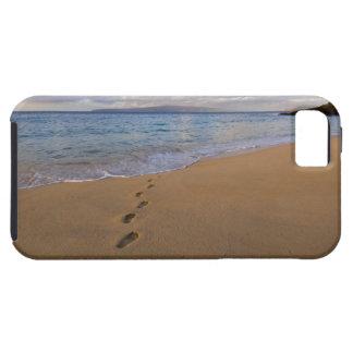 USA, Hawaii, Maui, Wailea, footprints on beach 2 Tough iPhone 5 Case