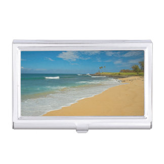 USA, Hawaii, Molokai Island, Three Mile Beach Business Card Holder