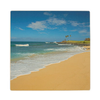 USA, Hawaii, Molokai Island, Three Mile Beach Wood Coaster
