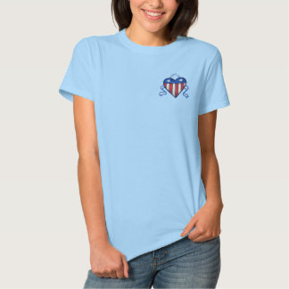 USA Heart Embroidered Ladies Polo