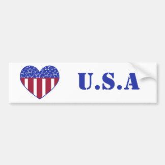 USA Heart Flag Bumper Sticker